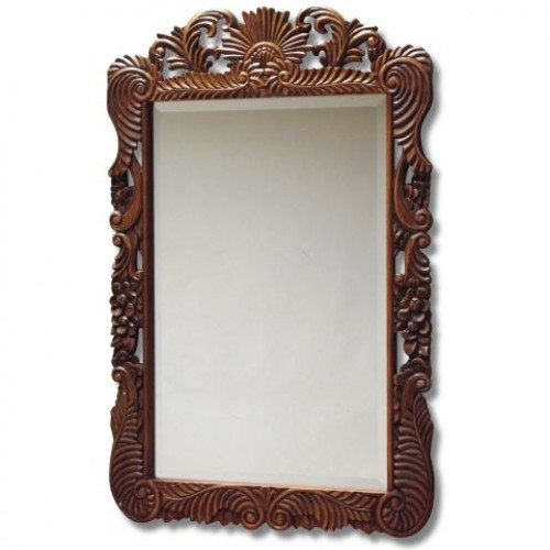 Intricately carved large Oriental Wall Mirror