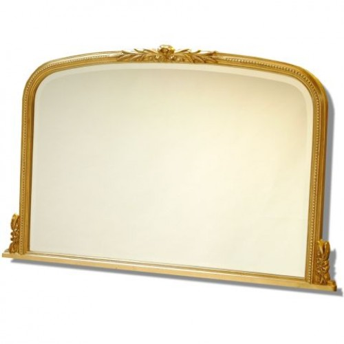 Gold Decorative Overmantle Wall Mirror