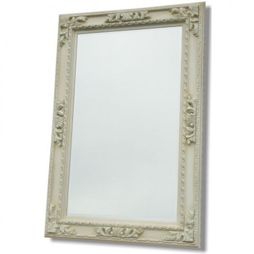Ivory Ornate Framed Mirror