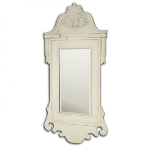 Shabby chic white framed Wall Mirror