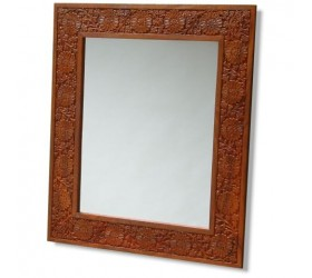 Intricately carved real wood framed Mirror
