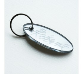Personalised Mirror keyring