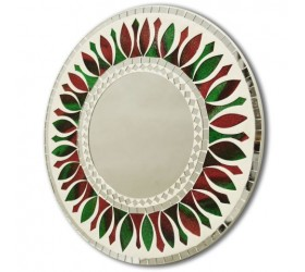 Circular mosaic decorative Wall Mirror