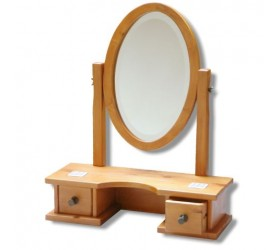 Natural Timber Dressing Table Mirror and Draws