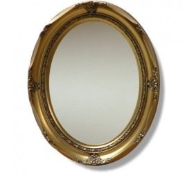 Ornate gold oval framed Wall Mirror