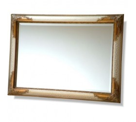Ivory and Gold Swept Framed Mirror