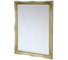 Ivory Swept Framed Mirror