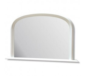 White Overmantle Wall Mirror