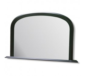 Black Overmantle Wall Mirror