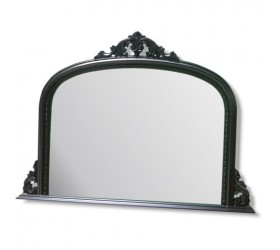 Black decorative Overmantle Wall Mirror