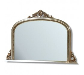 Silver decorative Overmantle Wall Mirror