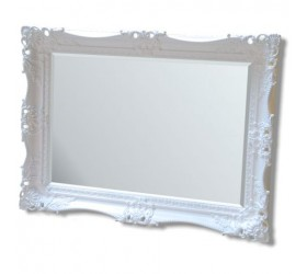 Ivory White French Styled Mirror