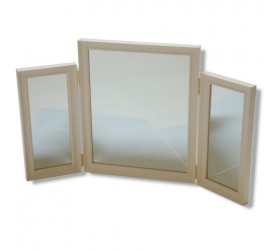 Cream and Ivory Dressing Table Mirror