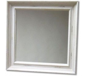 White Antique Styled Wall Mirror