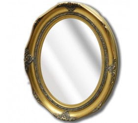 Antique styled ornate gold oval Wall Mirror