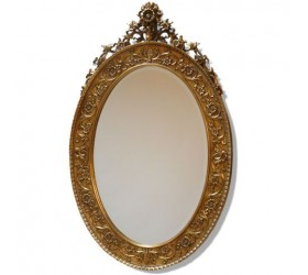 Antique Style Gold Oval Mirror