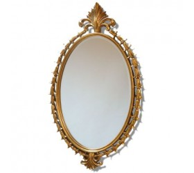 Large Decorative Oval Mirror