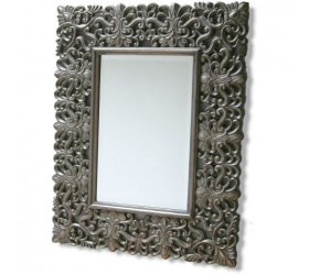 Decorative Wood Tone Mirror