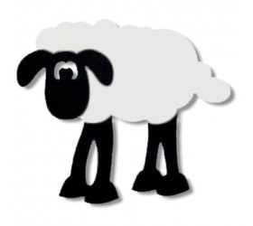 Large Sheep Acrylic Mirror