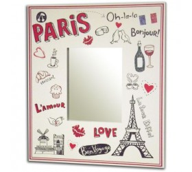 Paris Themed Acrylic Mirror