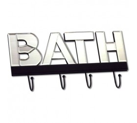 Bathroom Mirrored Coat Hook