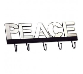 Peace Lettered Mirror Coat Hooks