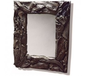 Rustic teak root frame in a rectangular shape