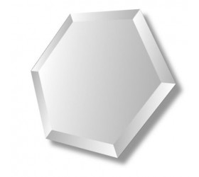 Hexagon Bevelled Mirror