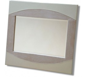 Contemporary Styled leather Effect Mirror