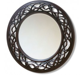 Dark Walnut Decorative Framed Mirror