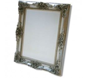 Silver Antique Styled Wall Mirror