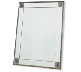 Frameless Mirror with Silver Features