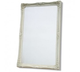 White Ornate Framed Mirror