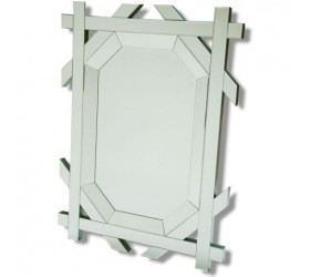 Octagonal Gold Mirror