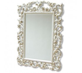 Ivory Cream Ornate Mirror