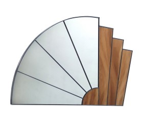 Art Deco Styled Leaded Mirror